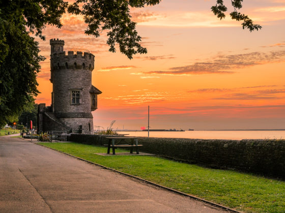 Appley tower at sun down - Ryde